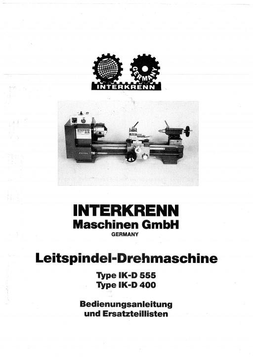 Bedienungsanleitung IKD Interkrenn bis BJ 1998