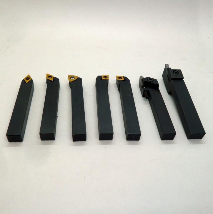 Drehmeißel-Set 7-teilig, 08mm Schaft, Wendplatten