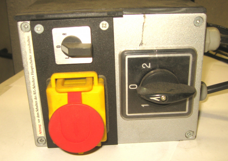 Schaltereinheit für Polmotore (E/A, R/L + Polschalter) - 380V