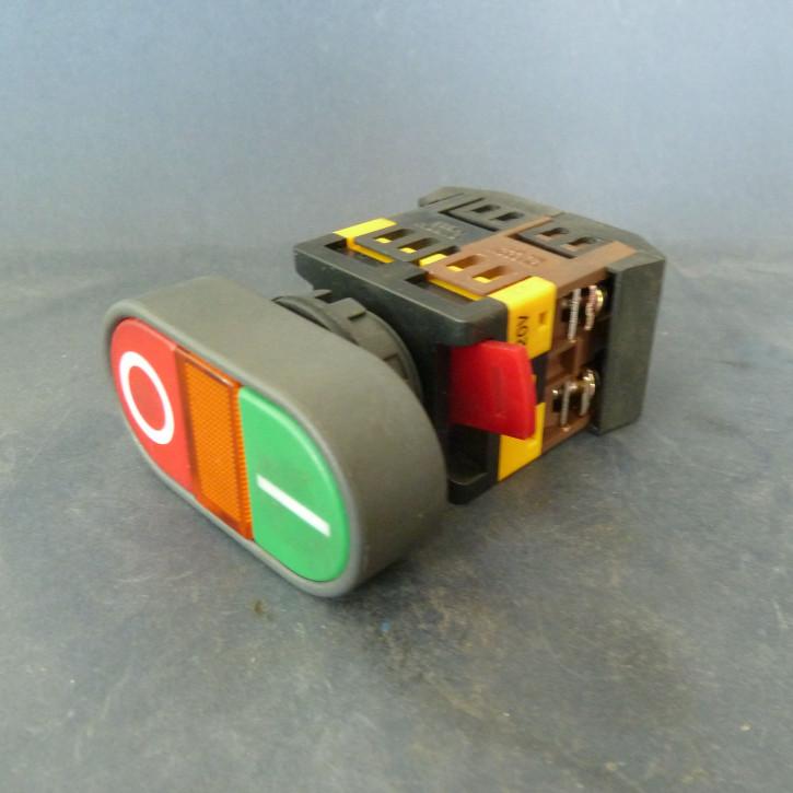 E/A-Schalter mit Leuchte, oval, HB22 / APB-22&25
