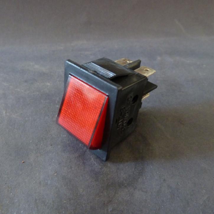 E/A-Schalter / Wippschalter (rot) - 230V
