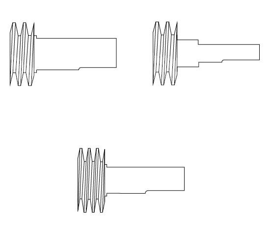 Schnecken für Bohrmaschinen (Auswahl nach Größe)